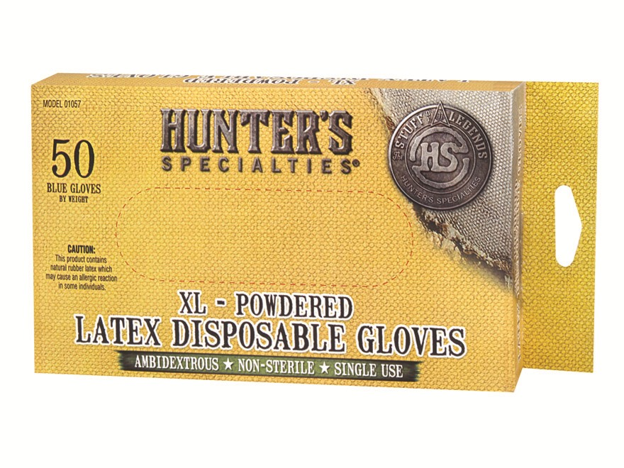 Hunter's Specialties Field Dressing Gloves Latex Pack of 50