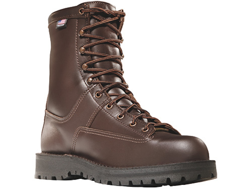 "Danner Hood Winter Light 8"" Waterproof 200 Gram Insulated Hunting Boots Leather Brown Mens 7 D"
