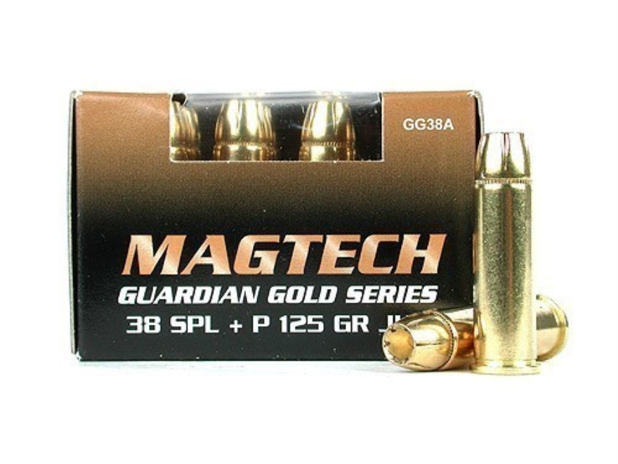 Magtech Guardian Gold Ammunition 38 Special +P 125 Grain Jacketed Hollow Point
