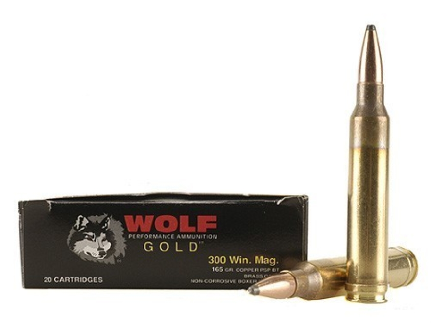 Wolf Gold Ammunition 300 Winchester Magnum 165 Grain Soft Point Box of 20