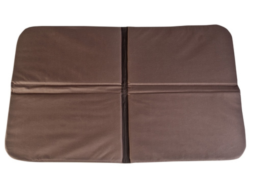 "Mud River 4 Way Folding Travel Dog Bed 36"" x 21"" x .5"" Waxed Canvas Brown"