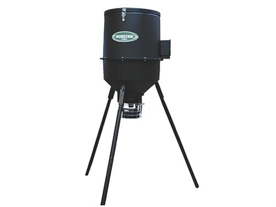 Moultrie EZ-Fill Tripod Game Feeder 30 Gallon Polymer Black
