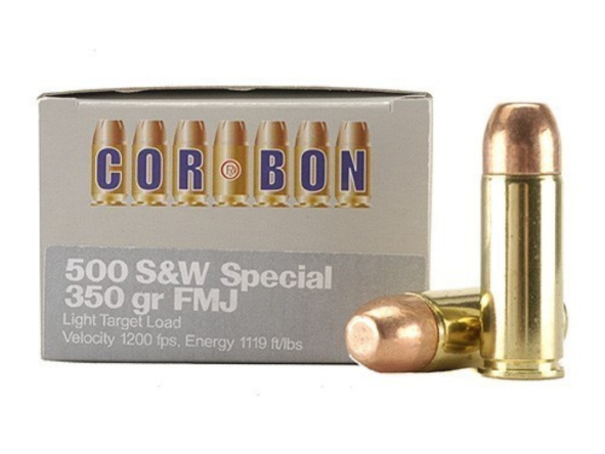 Cor-Bon Hunter Ammunition 500 S&W Special 350 Grain Full Metal Jacket Box of 12