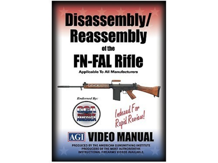 "American Gunsmithing Institute (AGI) Disassembly and Reassembly Course Video ""FN-FAL Rifles"" DVD"