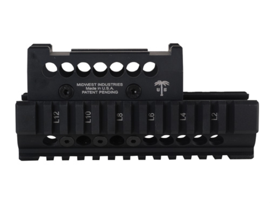 Midwest Industries US Palm 2-Piece Railed Handguard AK-47, AK-74 with Aimpoint Micro, Vortex Sparc or Primary Arms Micro Dot Top Cover Optic Mount Aluminum