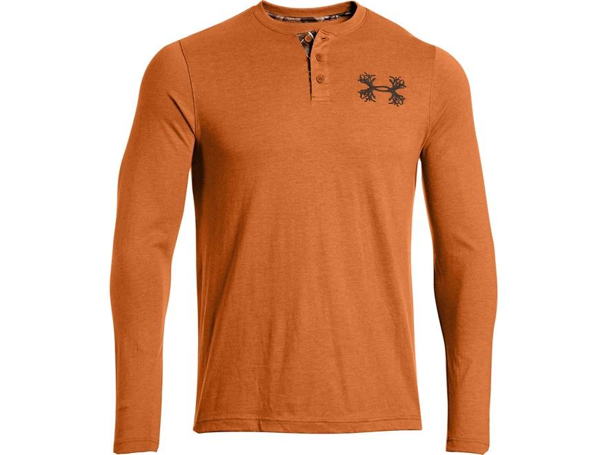 Under Armour Men's Borderland Henley Shirt Long Sleeve Polyester