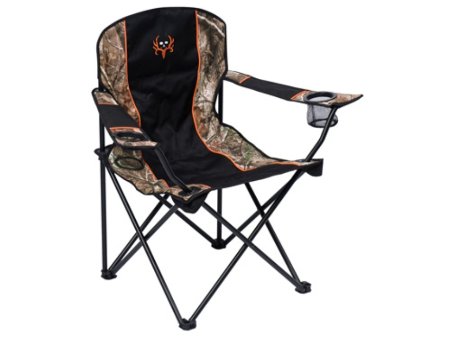 Ameristep Bone Collector Easy Chair Steel Frame and Nylon Seat and Back Orange, Black and Realtree AP Camo