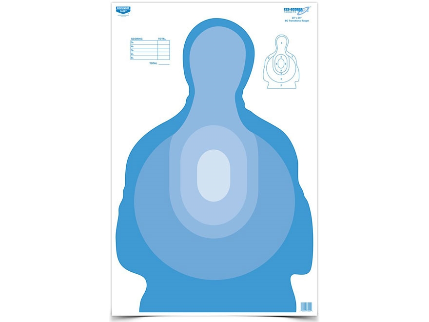"Birchwood Casey Eze-Scorer Transitional Silhouette Blue Targets 23"" x 35"" Package of 5"