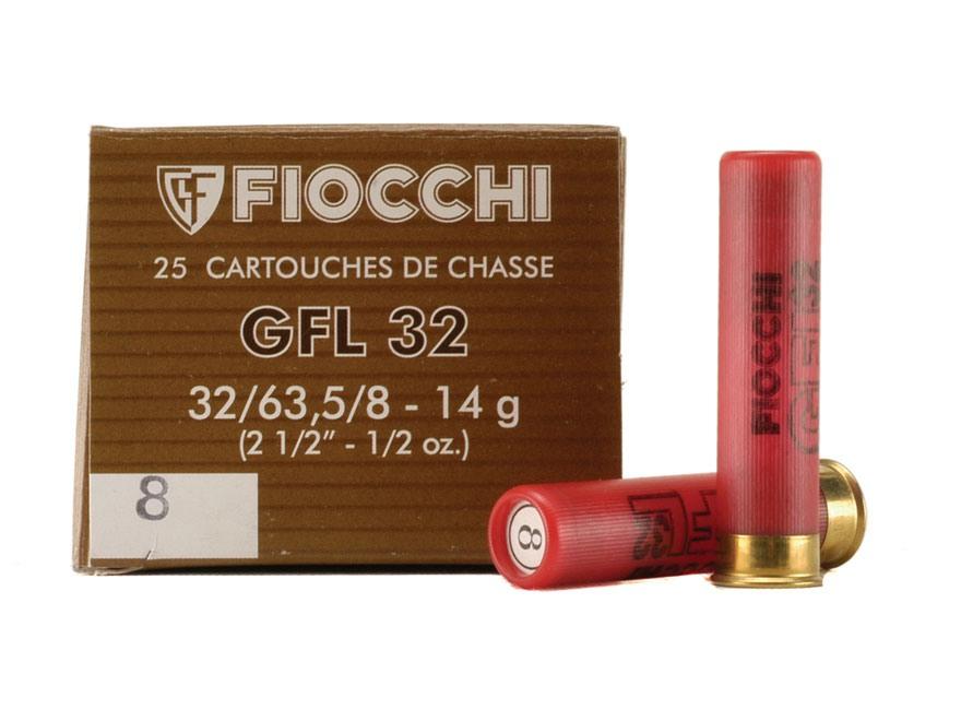 "Fiocchi Field Load Ammunition 32 Gauge 2-1/2"" 1/2 oz #8 Shot Box of 25"