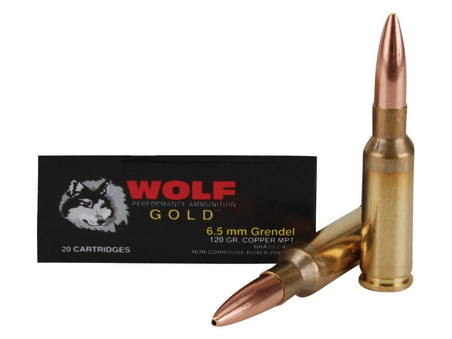 Wolf Gold Ammunition 6.5 Grendel 120 Grain Multi-Purpose Tactical (MPT) Box of 20