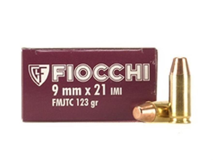 Fiocchi Shooting Dynamics Ammunition 9x21mm 123 Grain Full Metal Jacket Truncated Cone ...