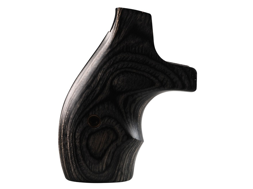 Smith & Wesson Factory Grips with Finger Grooves S&W J-Frame Round Butt Silver and Black