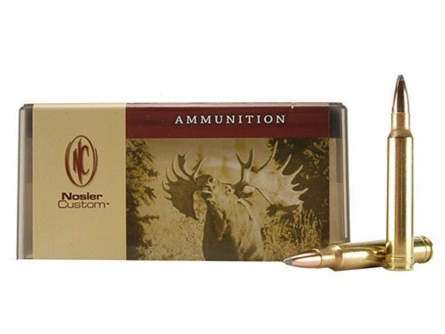 Nosler Custom Ammunition 8mm Remington Magnum 200 Grain Partition Spitzer Box of 20