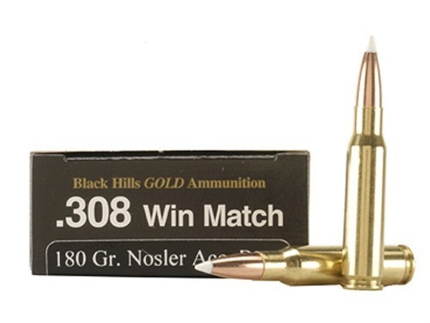 Black Hills Gold Ammunition 308 Winchester 180 Grain Nosler AccuBond Box of 20