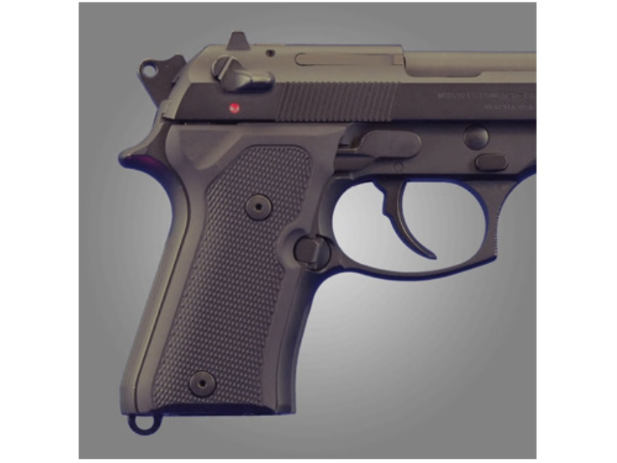 Hogue Extreme Series Grip Beretta 92FS Compact Checkered Aluminum Matte