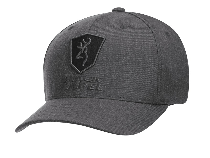 Browning Black Label Bravo Flex Fit Cap Heather Twill Gray