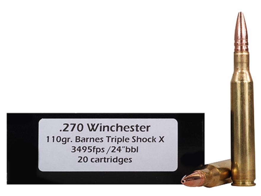 Doubletap Ammunition 270 Winchester 110 Grain Barnes Triple-Shock X Bullet Hollow Point Lead-Free Box of 20