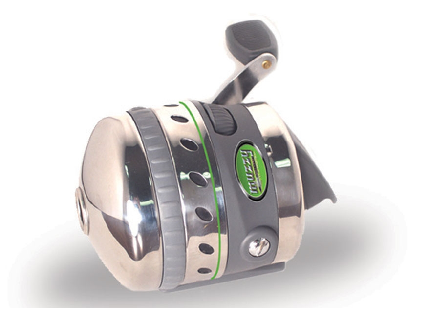 Muzzy spincast bowfishing reel for Bow fishing reel
