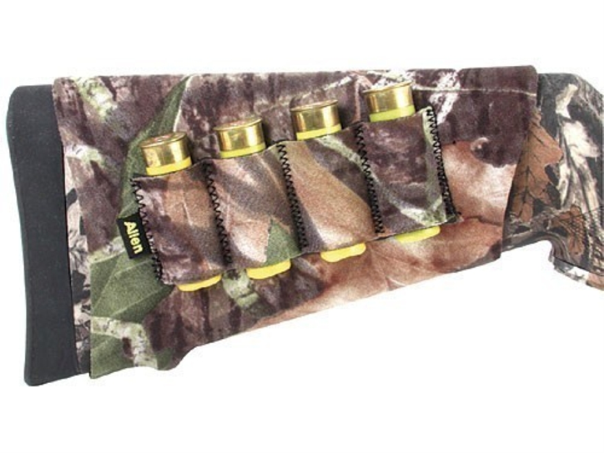 Allen Buttstock Shotshell Ammunition Carrier 4-Round Neoprene Mossy Oak Break-Up Camo