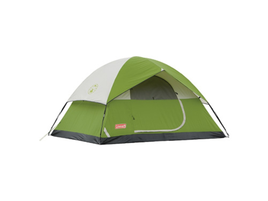 "Coleman Sundome 4 Man Dome Tent 108"" x 84"" x 59"" Polyester Green, White and Gray"