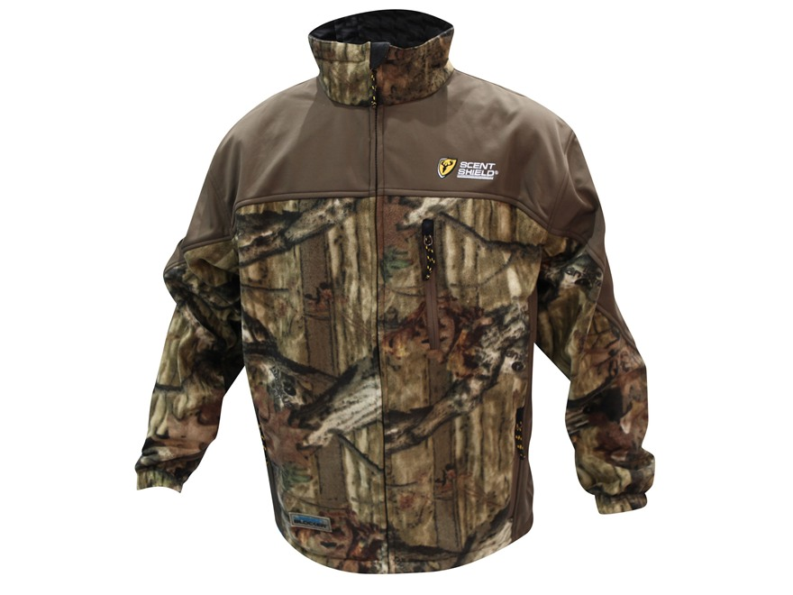 ScentBlocker Men's WindBlocker Jacket Polyester Brown and Mossy Oak Break-Up Infinity Camo Medium 38-40