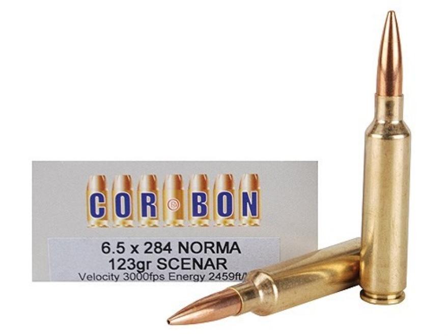 Cor-Bon Performance Match Ammunition 6.5mm-284 Norma 123 Grain Lapua Scenar Box of 20