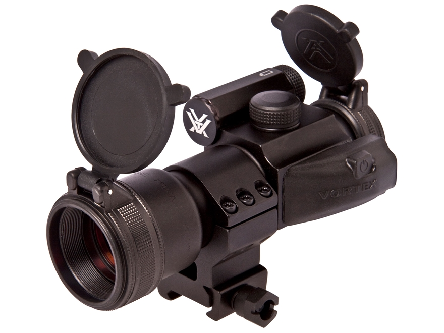 Vortex Optics StrikeFire Red Dot Sight 30mm Tube 1x 4 MOA Red Dot with Extra-High Weaver-Style Ring and 2x Magnifier Matte