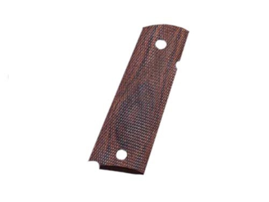Hogue Fancy Hardwood Grips with Palm Swells 1911 Government, Commander Checkered