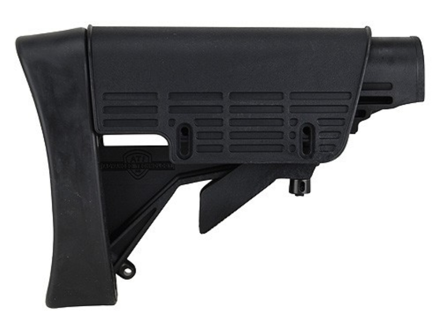 Advanced Technology Strikeforce Collapsible Stock with Cheekrest & Scorpion Recoil Pad Commercial Diameter AR-15, LR-308 Carbine Polymer Black