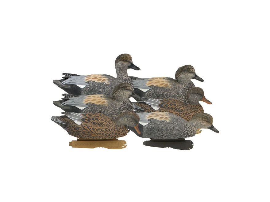 GHG Pro-Grade Weighted Keel Gadwall Duck Decoys Pack of 6