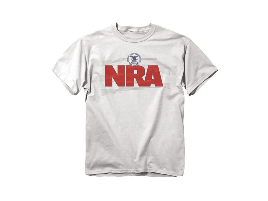 Nra Men 39 S Guns Logo T Shirt Short Sleeve Cotton White 2xl