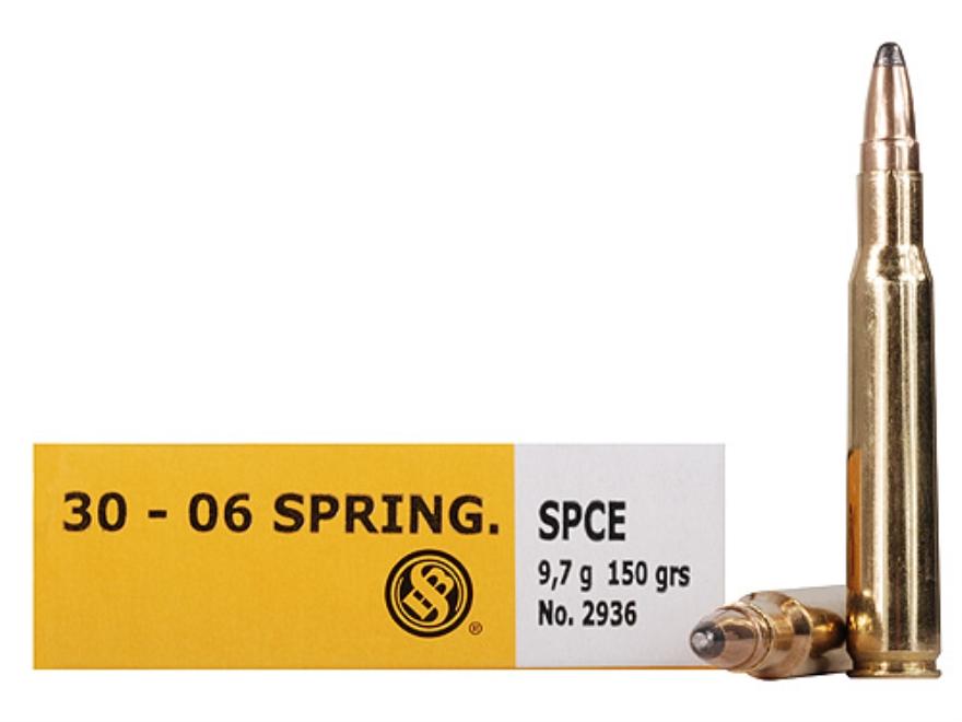 Sellier & Bellot Ammunition 30-06 Springfield 150 Grain Soft Point Cutting Edge Box of 20