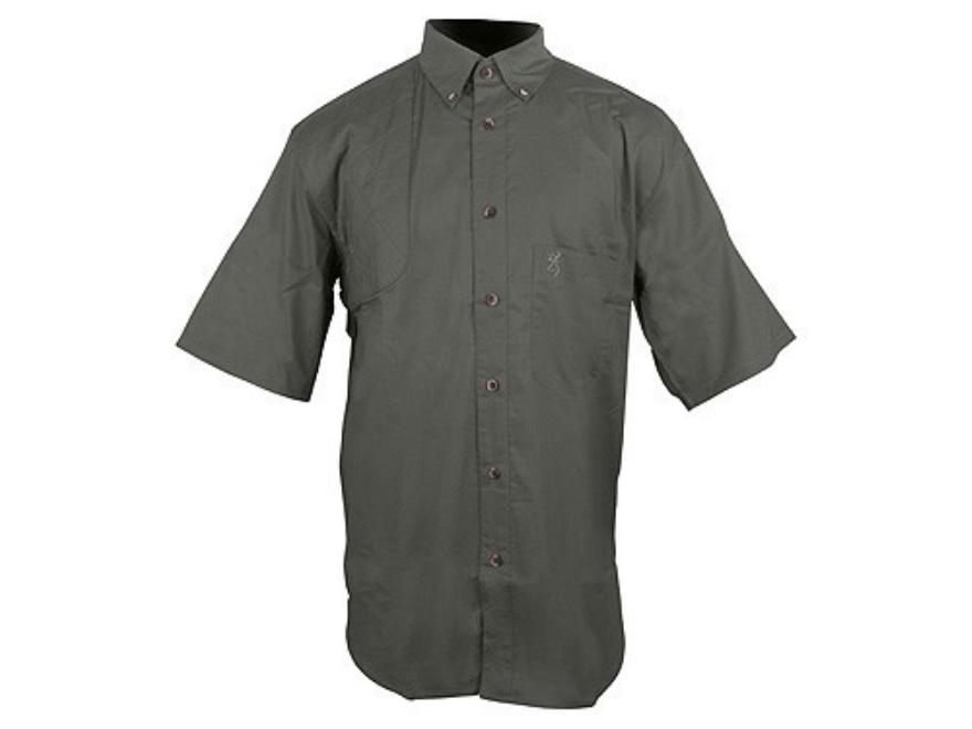 "Browning Badger Creek Shooting Shirt Short Sleeve Cotton Pine Small (37"" to 39"")"