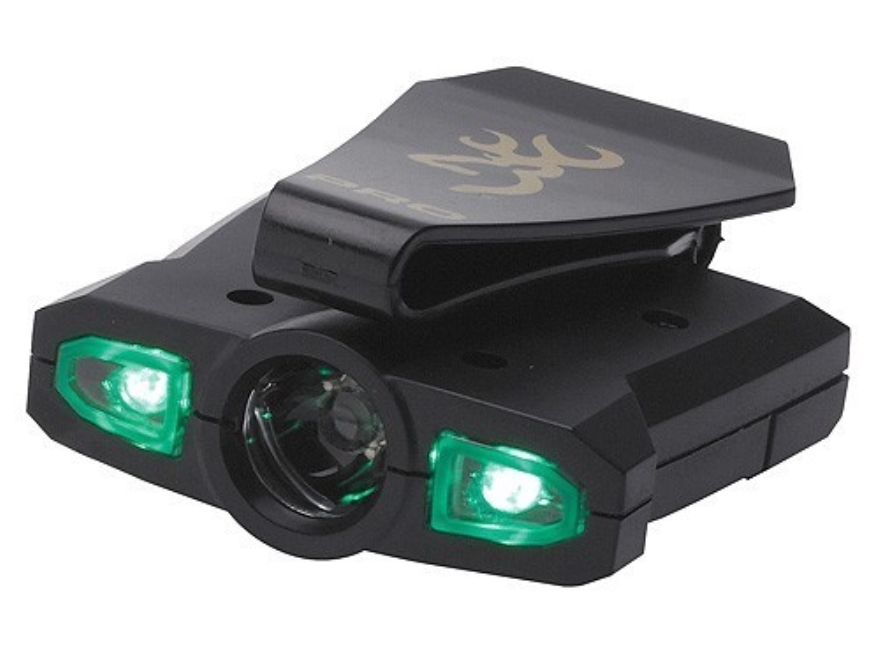 Browning Night Seeker Pro Cap Light LEDs with 1 AAA Battery Polymer Black