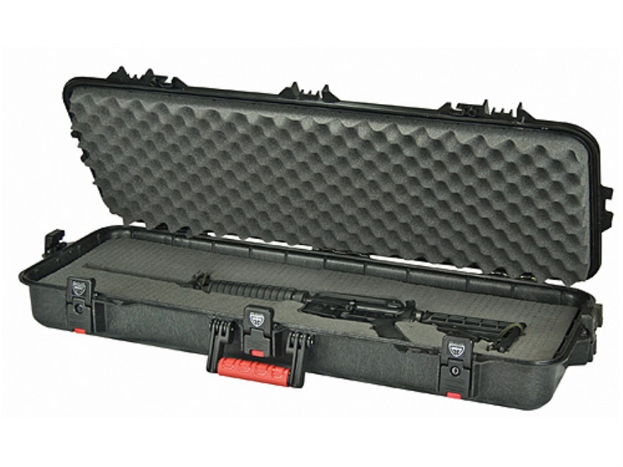 "Plano AW All Weather Series 36"" Tactical Rifle Gun Case Polymer Black and Red"