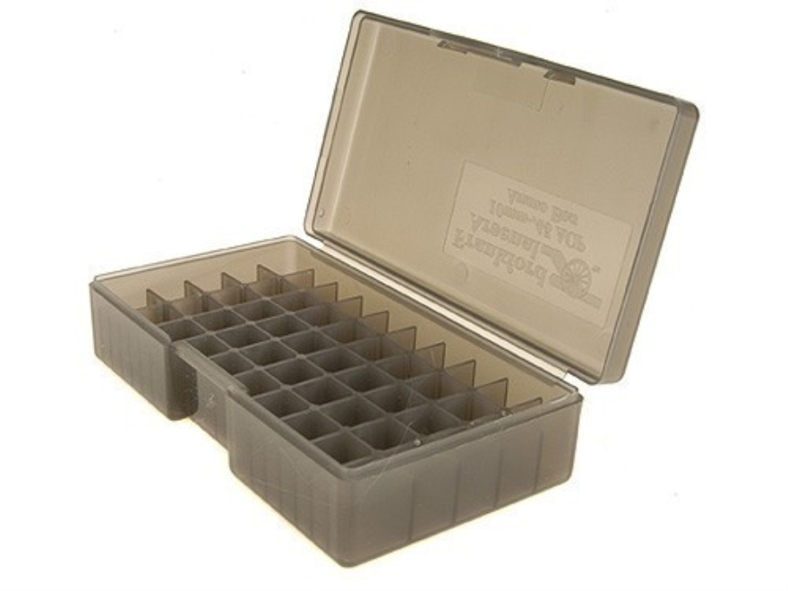 Frankford Arsenal Flip-Top Ammo Box #508 40 S&W, 10mm Auto, 45 ACP 50-Round Plastic Smoke Box of 10