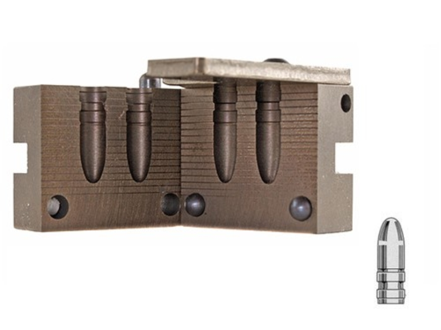 Saeco 2-Cavity Bullet Mold #081 323 Caliber, 8mm (323-324 Diameter) 190 Grain Round Nose Gas Check