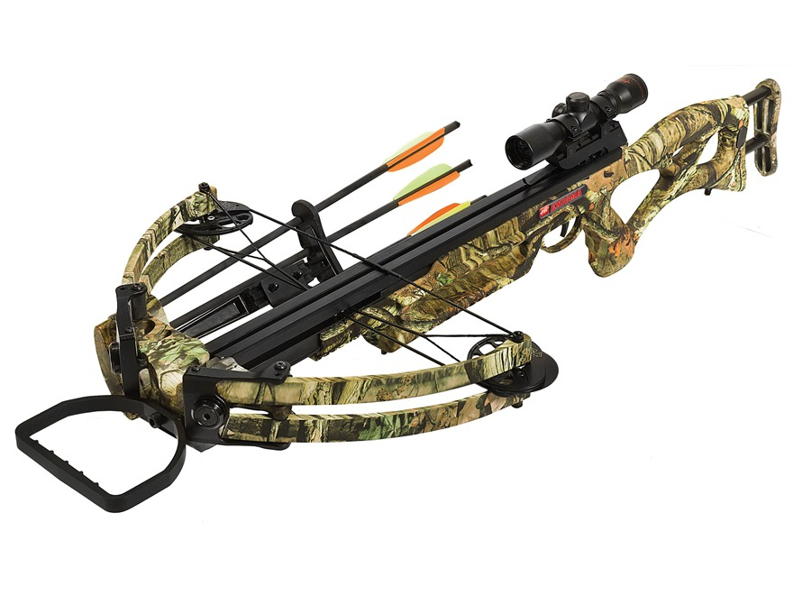 PSE Enigma Crossbow Package with 4x 32mm Crossbow Scope Mossy Oak Break-Up Infinity Camo