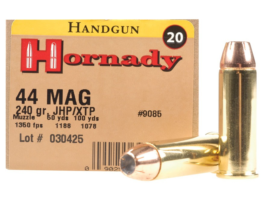 Hornady Custom Ammunition 44 Remington Magnum 240 Grain XTP Jacketed Hollow Point Box of 20