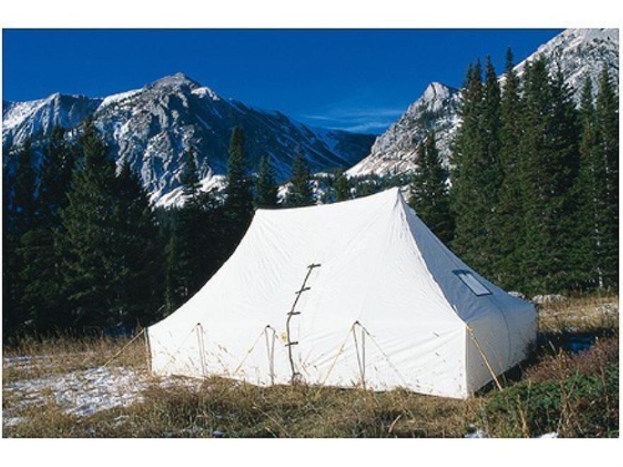 Montana Canvas Kenai 10' x 20' Tent with Sewn-In Floor, 2 Windows and Screen Door Relite