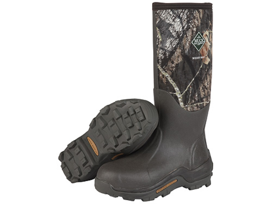 "Muck Woody Max 16"" Waterproof Insulated Hunting Boots Rubber and Nylon Mossy Oak Break-..."