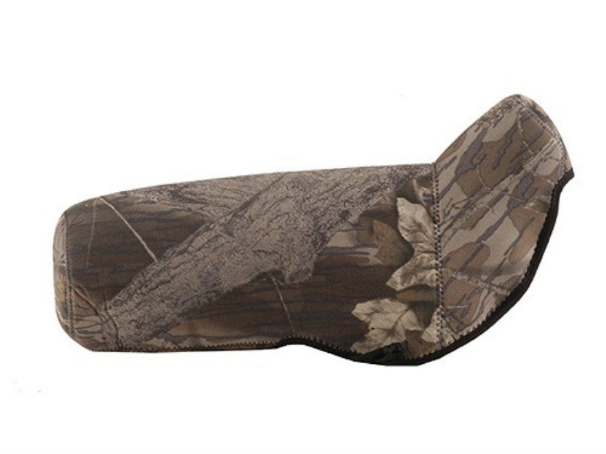 CrossTac Spotting Scope Cover Large Angled Body Neoprene Reversible Black, Mossy Oak Break-Up Camo