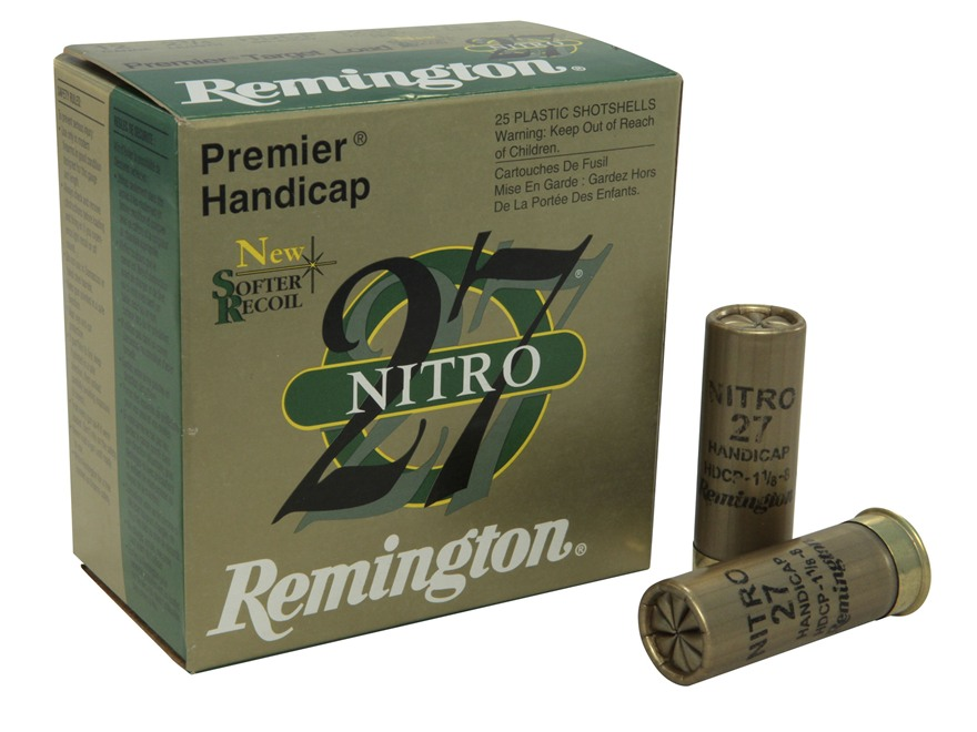 "Remington Premier Nitro 27 Gold Handicap Ammunition 12 Gauge 2-3/4"" 1-1/8 oz #8 Shot"