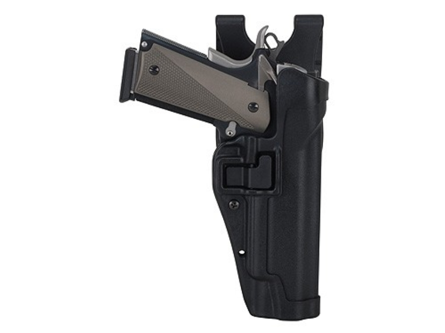 BLACKHAWK! Level 2 Serpa Auto Lock Duty Holster Right Hand Glock 20, 21, S&W M&P 45 Polymer Black