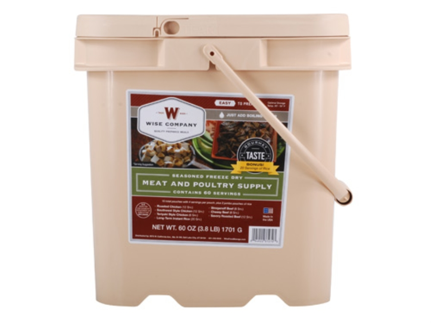Wise Food Stocking Up Freeze Dried Meat Supply 60 Serving Bucket
