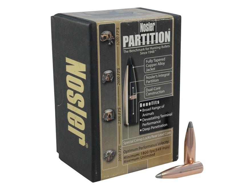 Nosler Partition Bullets 284 Caliber, 7mm (284 Diameter) 150 Grain Spitzer Box of 50