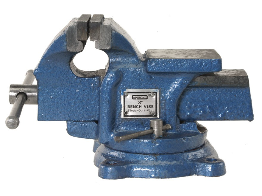"Wisdom Heavy Duty Bench Vise 3"" Jaws"