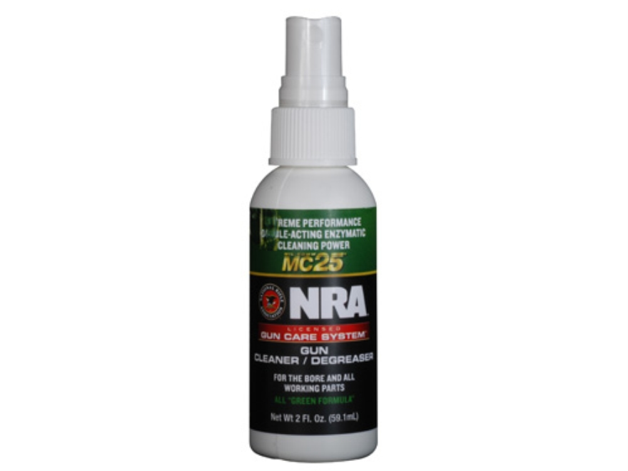 NRA Licensed Gun Care Kit By Mil-Comm MC25 Gun Cleaner Degreaser Bore Cleaning Solvent 2 oz Spray Bottle