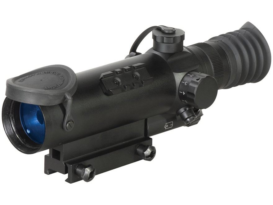 ATN Night Arrow 2-2 2nd+ Generation Night Vision Rifle Scope 2x Illuminated Red Duplex Reticle with Integral Weaver-Style Mount Matte