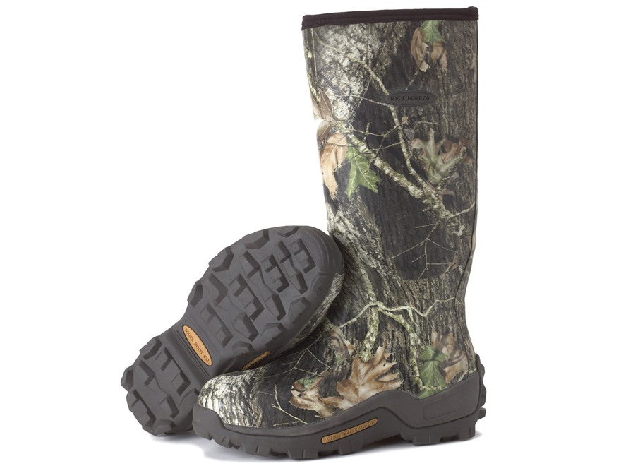 "Muck Woody Armor 17"" Waterproof Insulated Hunting Boots Rubber Mossy Oak Break-Up Camo Mens 5 D"